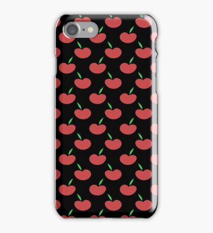 Black and Red Apple Pattern iPhone Case/Skin