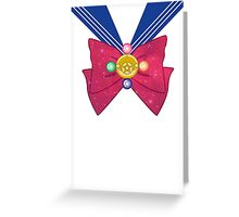 Galactic Sailor Moon Bow Greeting Card