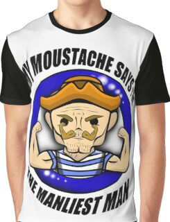 The Manliest Moustache! - Be a Manly Man - Graphic T-Shirt