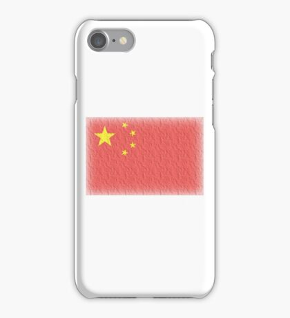 CHINA, FADED CHINESE FLAG, Flag of China, People's Republic of China, China, Pure & Simple, FADED iPhone Case/Skin