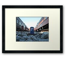 Train Track TARDIS Framed Print