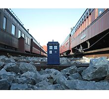 Train Track TARDIS Photographic Print