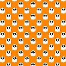 Spooky Ghost Yellow Pattern by SaradaBoru