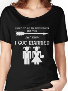 But Then I Got Married (White) Women's Relaxed Fit T-Shirt