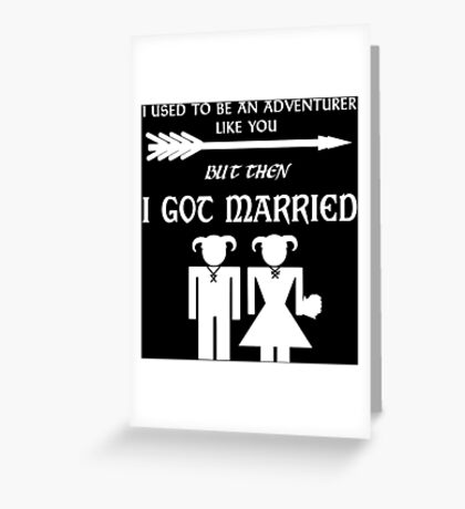 But Then I Got Married (White) Greeting Card
