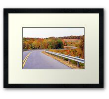 The Roads of Autumn Framed Print