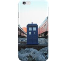 Train Track TARDIS iPhone Case/Skin