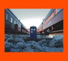 Train Track TARDIS Kids Tee