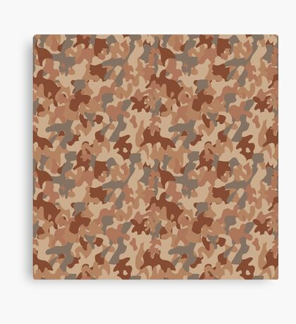 Military desert camouflage design always fashion Canvas Print