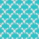 Sky Blue Ghost Pattern by SaradaBoru