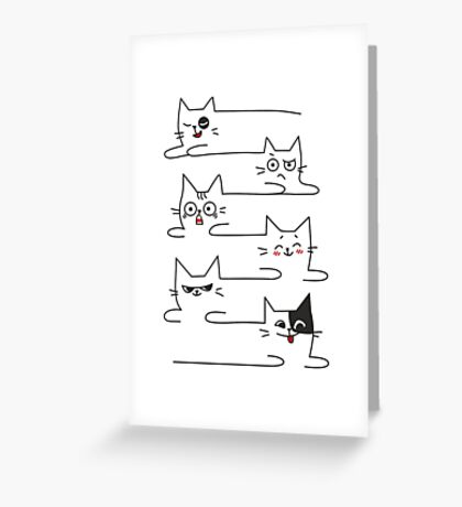 Funny Cats Unlimited Lines Greeting Card