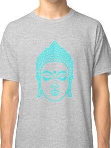 Buddha head in cyan Classic T-Shirt