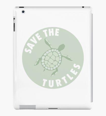 save the turtles badge  iPad Case/Skin