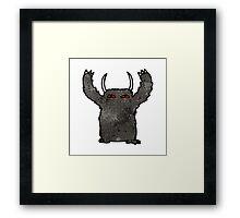 cartoon black monster Framed Print