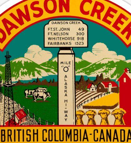 Dawson Creek BC Vintage Travel Decal Sticker