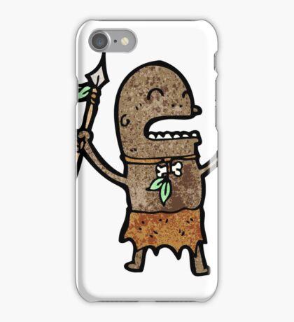 cartoon tribal man iPhone Case/Skin