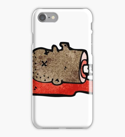 gross severed head cartoon iPhone Case/Skin
