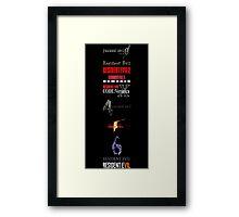 Resident Evil Timeline Framed Print