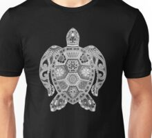 Royal Sea Turtle - silver, black and white Unisex T-Shirt