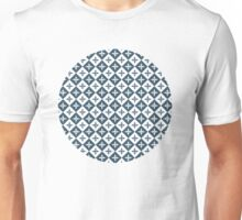 Tile pattern - Blue and White Unisex T-Shirt