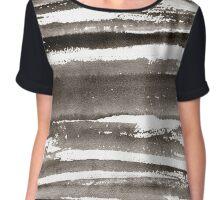 Watercolor texture black color Chiffon Top