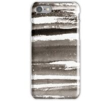 Watercolor texture black color iPhone Case/Skin