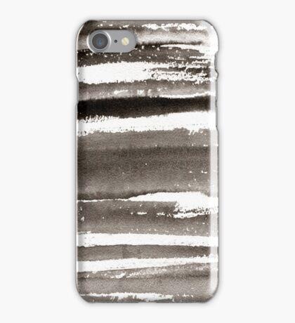 Watercolor texture black color iPhone Case/Skin