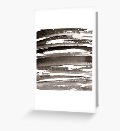 Watercolor texture black color Greeting Card