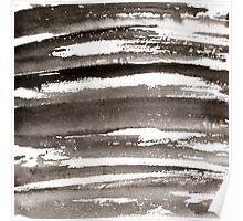 Watercolor texture black color Poster