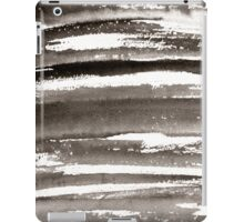 Watercolor texture black color iPad Case/Skin