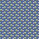 Sleepy Bee Blue Pattern by SaradaBoru