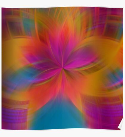 Gorgeous burst of colors Poster