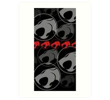 The Iconic Thundercats (black) Art Print