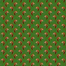 Sleeping Red Panda Green Pattern by SaradaBoru