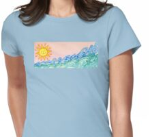 Morning Storm Womens Fitted T-Shirt