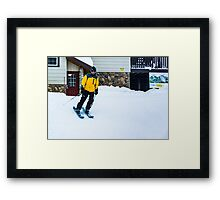 End of the Day's Last Run Framed Print