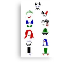 Minimalist Rogues Gallery Print Canvas Print