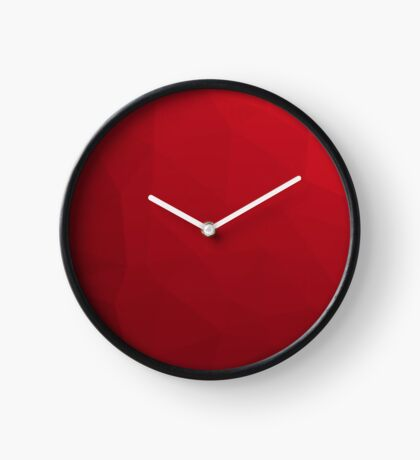 RED GEOMETRIC LOW POLY  Clock