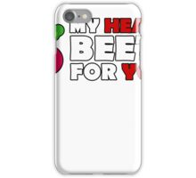 Cute MY HEART BEETS FOR YOU - Funny Valentines Day T-Shirt iPhone Case/Skin