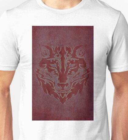 Tribal Wolf Red Unisex T-Shirt
