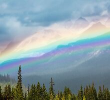 Rainbow Over the Icefields Parkway  by Jim Stiles