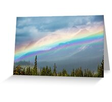 Rainbow Over the Icefields Parkway  Greeting Card