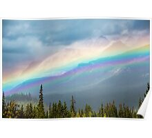 Rainbow Over the Icefields Parkway  Poster