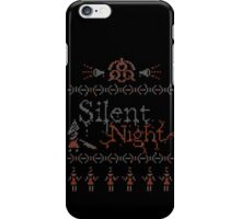 Silent Night ugly christmas iPhone Case/Skin