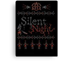 Silent Night ugly christmas Canvas Print