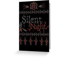 Silent Night ugly christmas Greeting Card