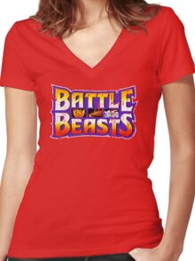 Battle Beasts Women's Fitted V-Neck T-Shirt