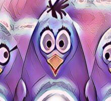 Penguin Triplets Purple Hologram Sticker