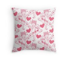 Cute Cupid for love Throw Pillow