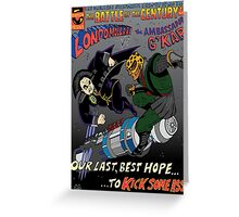 Battle of the 23rd Century! Greeting Card